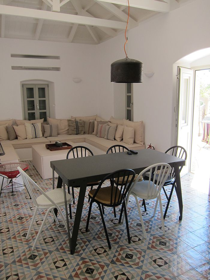 our SUR chairs featured in a new vacation house in Kithira island, Greece http://www.oikos.gr/english/chair-sur.html
