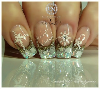Christmas Nails in Gold & Silver...