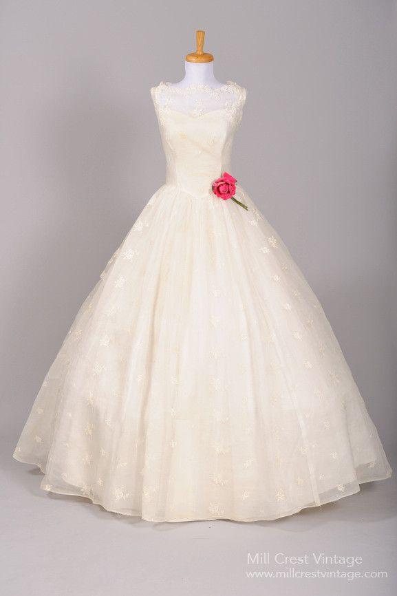 1950 Southern Bell Vintage Wedding Gown , Vintage Wedding Dresses - 1950 Vintage, Mill Crest Vintage - 1