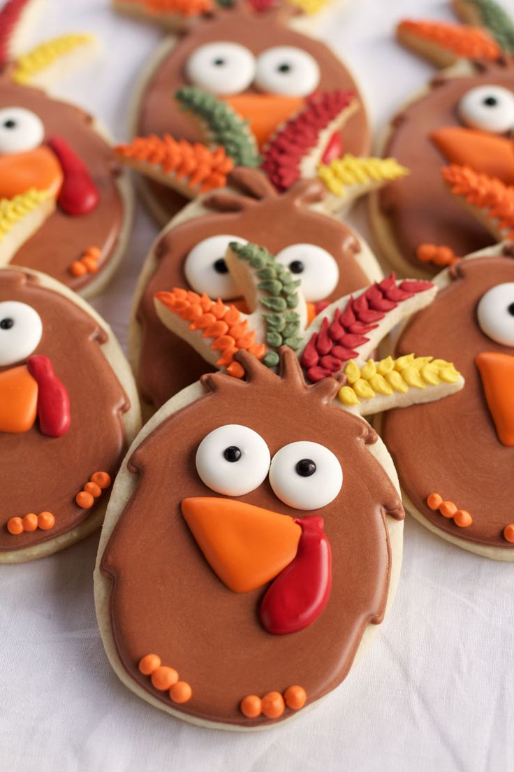 easy turkey cookies pineapple cutter - Halloween Cookies Decorating Ideas