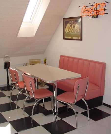 50s diner in pink my home decorating channel pinterest for Diner home decor