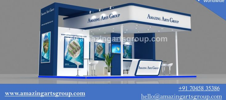 Amazing Arts Group is a Exhibition Stall Designer and Exhibition Stand Constructor firm that has been in business from many Years. We provides stall designing services, exhibition stall designing, Exhibition Stall Fabrication, exhibition stall designer. We have extensive experience in Designing and Construction, offering services in India.