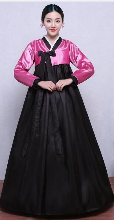 Black Hanfu Costume Korean Traditional Costume Women Hanbok Female National  Clothes Long Sleeve Korean Ancient Hanbok Dress 16 68db72ddb686