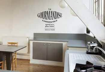 autocollant mural pour cuisine une citation texte d 39 alphonse daudet citation pinterest. Black Bedroom Furniture Sets. Home Design Ideas
