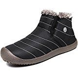 #10: IceUnicorn Womens Mens Snow Boots Slip On Winter Warm Booties Fully Fur Lined Lightweight Anti-Slip Boots Size 3.5-12.5