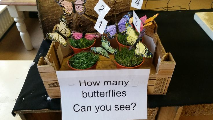 How many butterflies can you see? At Chadwell Pre-school