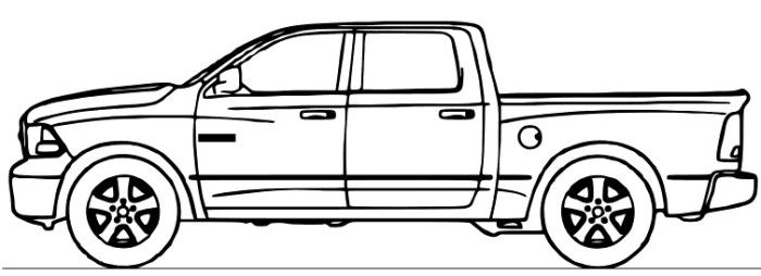 dodge ram truck coloring page