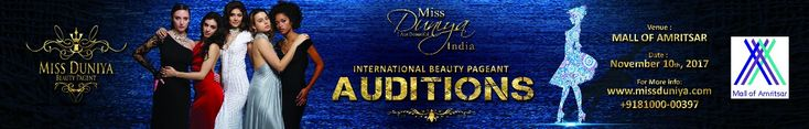 The registrations for Miss Duniya 2018 started recently. We received an overwhelming response for the first set auditions held in Jalandhar on 31st of October 2017. Moving forward, we hope to carry the same excitement and enthusiasm. Rio Hotel & Casino, Los Vegas will host the Miss Duniya 2018 finals in November 2018. We are here to provide ample of opportunities to all those aspiring individuals.