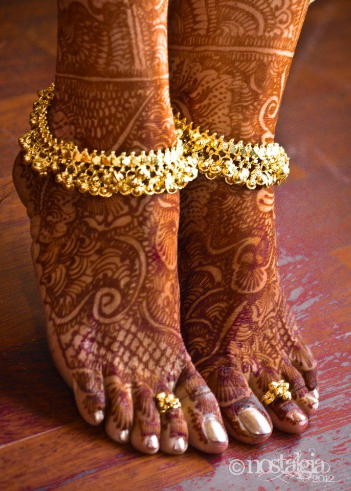 An anklet, also called ankle chain or ankle bracelet, is an ornament worn around the ankle. Barefoot anklets and toe rings historically have been worn for centuries by girls and women in India, where it is commonly known as payal.