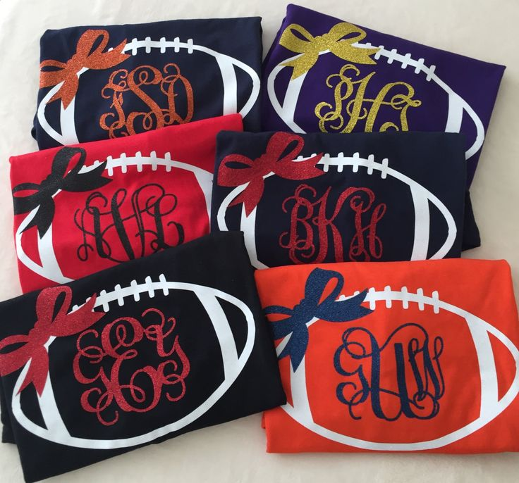 Monogrammed Football T-Shirt by 5thRowSouth on Etsy