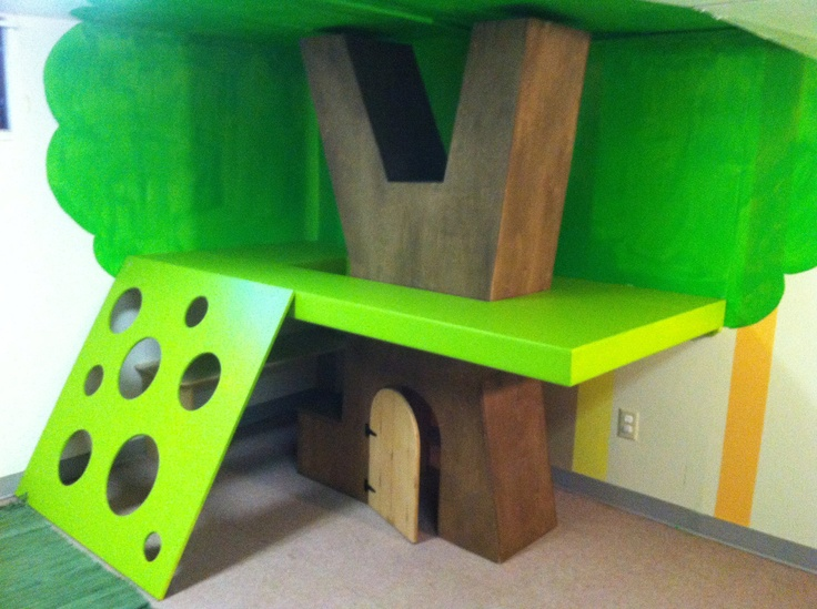Indoor tree house, play structure