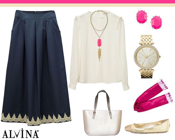 'Günün Kombini' Bluz; https://goo.gl/HBXu8l Etek; https://goo.gl/nJWjus Çanta; https://goo.gl/Ge9t8n #alvina #alvinamoda #alvinafashion #alvinaforever #hijab #hijabstyle #hijabfashion #tesettür #fashion #stylish #kombin #newcollection #havalı #şık #gününkombini