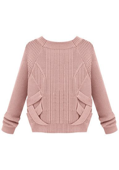 3D Criss Cross Knit - Baby Pink - Slightly Stretch Fabric