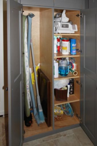 pantry with shelves and broom closet - Google Search
