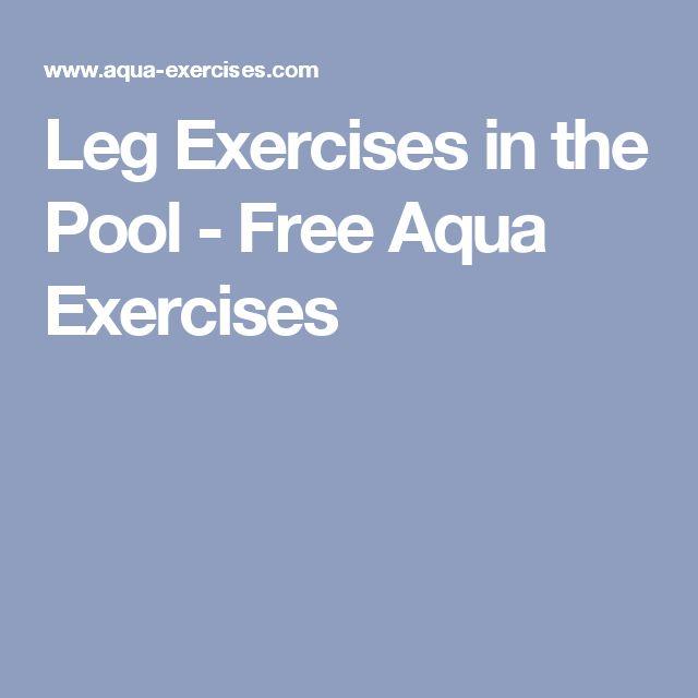 Leg Exercises in the Pool - Free Aqua Exercises