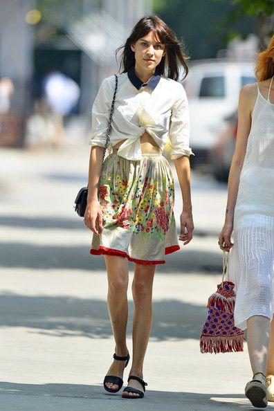 Alexa Chung Print Dress - Alexa Chung Looks - StyleBistro