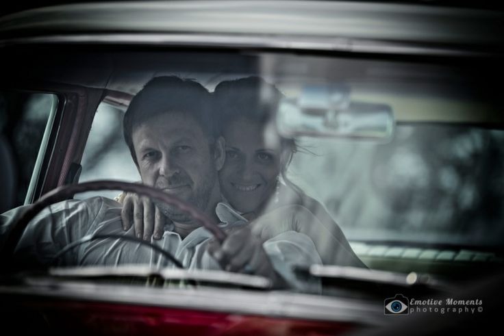 Emotive Moments Photography — Wedding photography shoot for Ben & Anna on Central Coast NSW - Ben & Anna Car Shot Logo