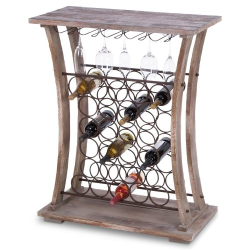 Wood Metal Wine Bar - or I could put bottles of paint in it and use it as a kid friendly art station!!!