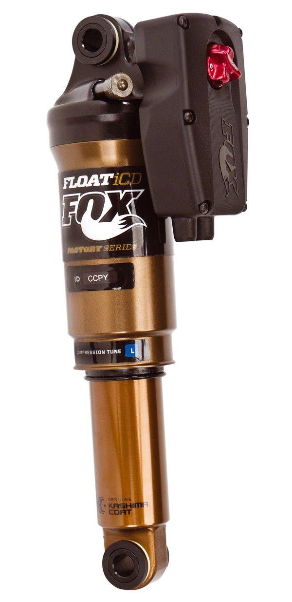 De FOX Float iCD demper. Deze FOX Float demper is in verschillende afmetingen verkrijgbaar.Gewicht291 gram6.5