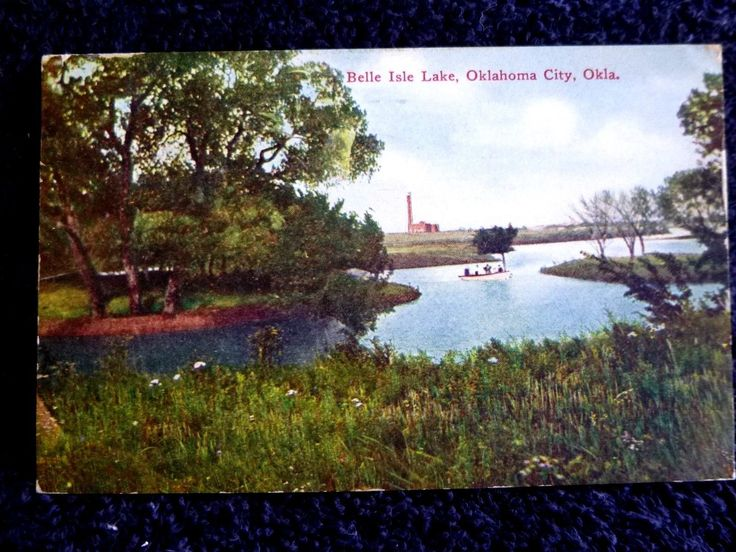 1909 The Belle Isle Lake in Oklahoma City OK Oklahoma PC | eBay
