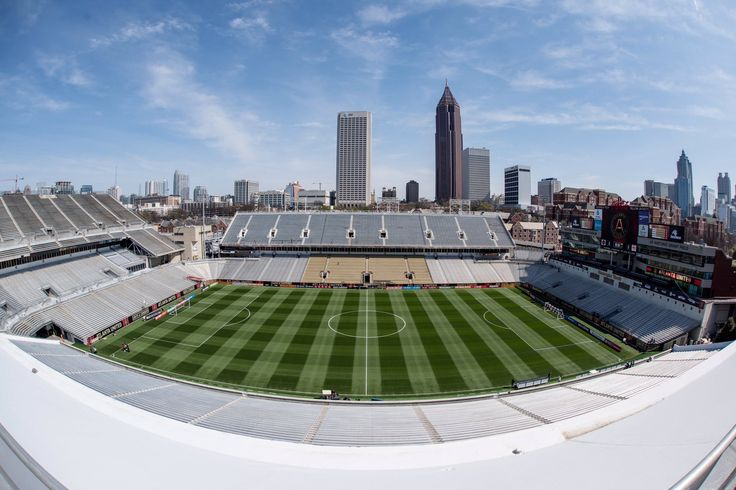 Atlanta United FC made their MLS debut this past weekend at Bobby Dodd Stadium/Grant Field. The field was first played on in 1905 and is the oldest continuously used on-campus site for college football in the Southern United States, and the oldest in the FBS. It was built by architect Charles Wellford Leavitt.  Photo credit: atlanta united fc