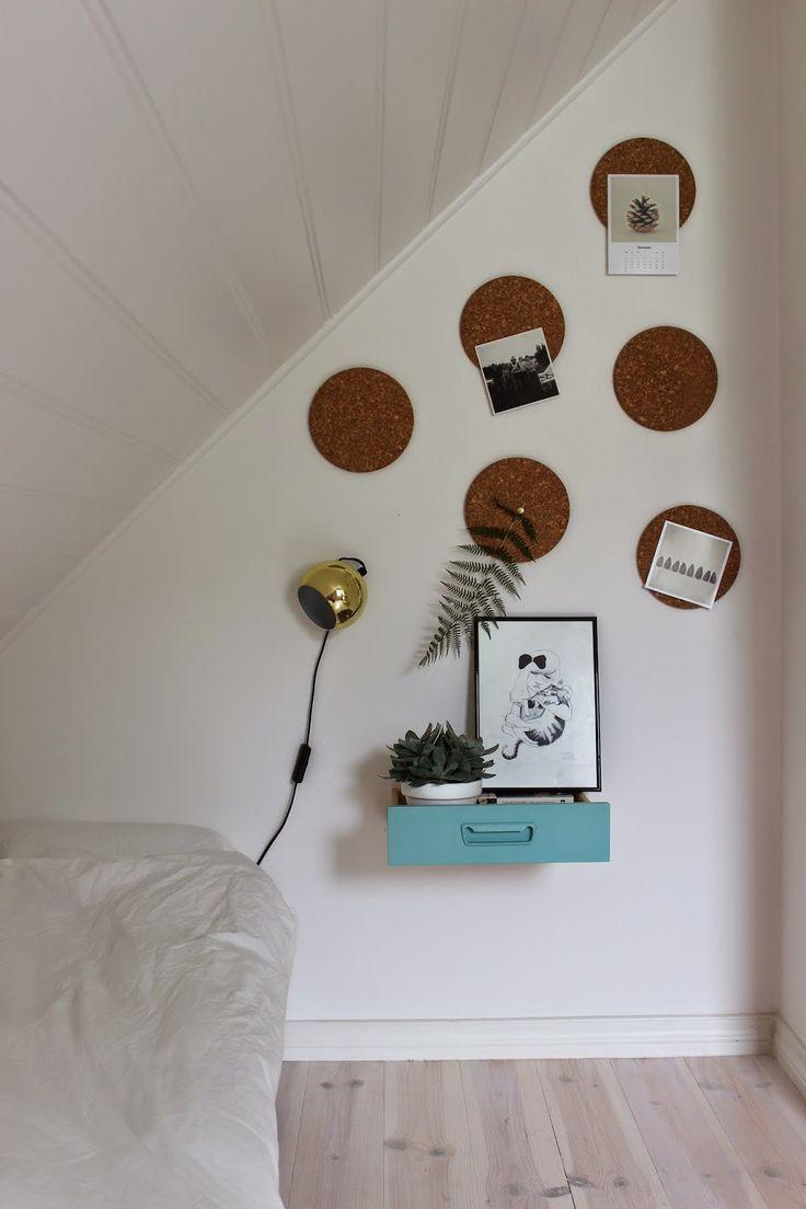 Mesa de cabeceira feita com uma gaveta - Blog de decoração - Casa de Firulas