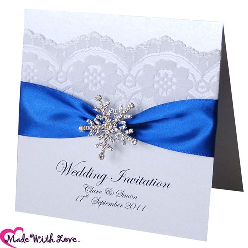 This would be perfect for a winter wedding with the snowflake. But with a plum colored ribbon instead of blue.