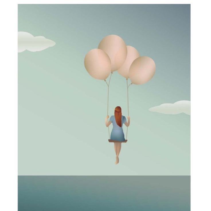 Vissevasse plakat med ballon pige