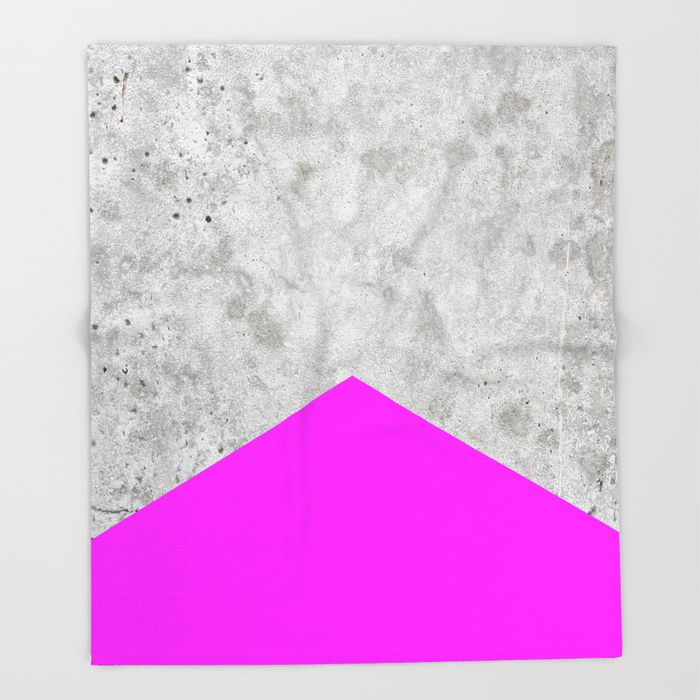 Concrete Arrow Neon Purple 728 Throw Blanket By Natural Collective Co Geometric Concrete Wall Granite Mo With Images Neon Purple Arrow Design Throw Blanket