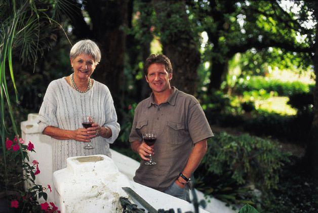 Annatjie Melck and Rijk at home at Muratie Wine Estate https://www.facebook.com/muratiewine/ www.muratie.co.za