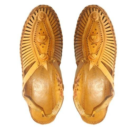 Camel Colored Kolhapuri Chappals For Women Price:2,360INR