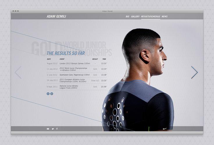 Adam Gemili website on Behance