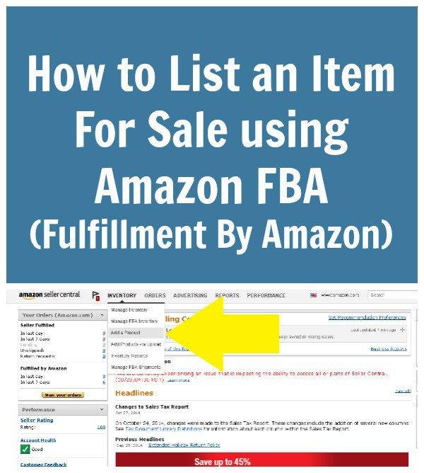 How to List an Item For Sale using Amazon FBA (Fulfillment By Amazon)