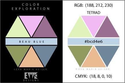 """Eva Maria Keiser Designs: Explore Color: """"Beau Blue"""" - Tetrad"""