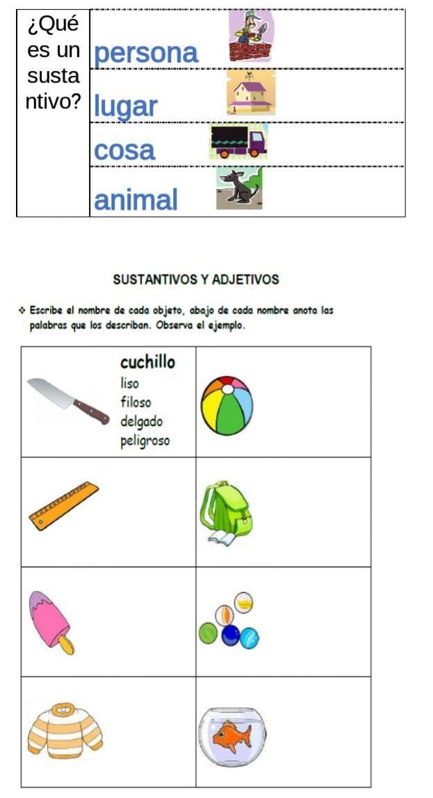 Ejercicios – Sustantivos y adjetivos - http://materialdidactico.org/ejercicios-sustantivos-y-adjetivos/