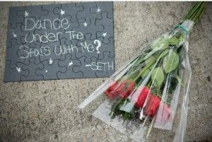 Get a puzzle from the dollar store, spray paint, and write your own message.  Could be a cute card or fun way to ask for a date!