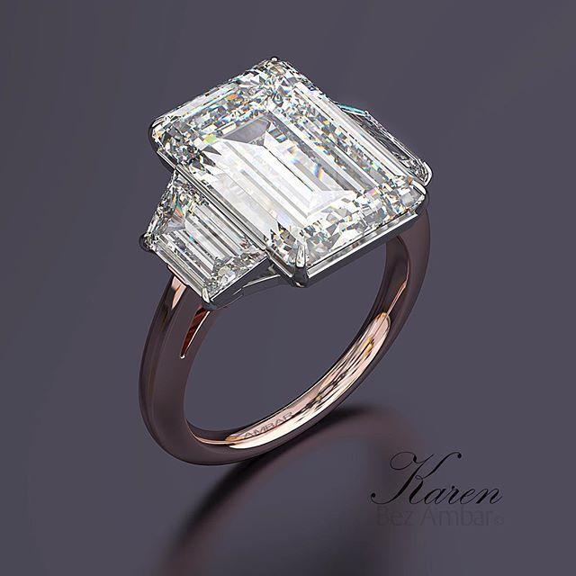 A Beautiful 10 Carat Three Stone Engagement Ring From Bez Ambar For More Informat 10 Carat Diamond Ring Diamond Rings Design Diamond Solitaire Engagement Ring