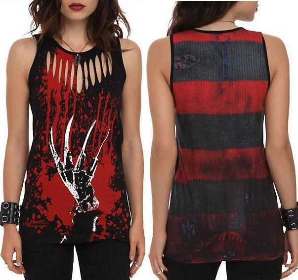 S M L New Nightmare on Elm Street Punk Goth Freddy Krueger Horror Movie Tank Top | eBay