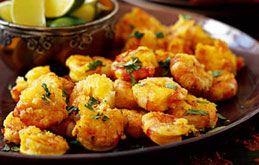 Ocado: Recipes:                                 Crispy King Prawns with Lime and Ginger