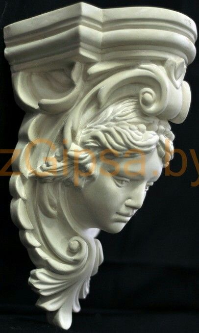 Victorian Corbel Female Face Cement Art Sculpture Lessons