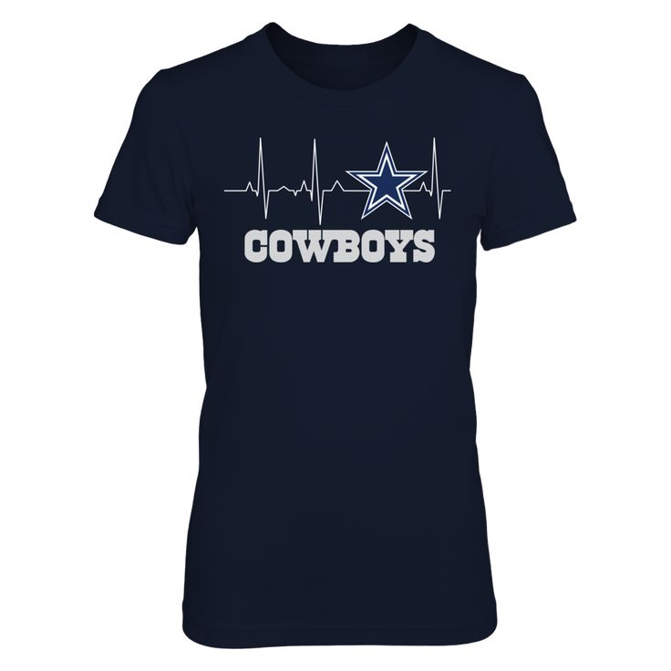 Dallas Cowboys My Heart Beats EKG Official Apparel. Licensed gear perfect for fans. Makes a fun gift!