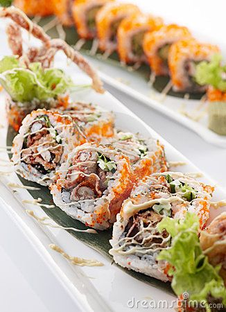 Spider Roll Maki My favorite kind of sushi.