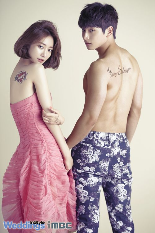 We Got Married Korean Variety Show --- 2AM Jin Woon and Go Joon Hee - InStyle Weddings Magazine