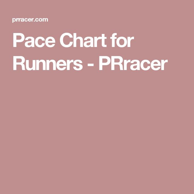 The  Best Half Marathon Pace Chart Ideas On