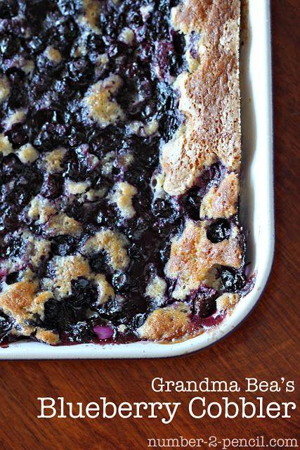 Grandma Beas Blueberry Cobbler