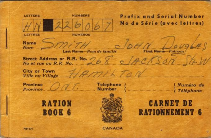 During World War 2, the government forced Canadians to submit coupons to purchase goods that the government has considered scarce. The lifestyle of many Canadians was hindered due to rationing during World War 2.