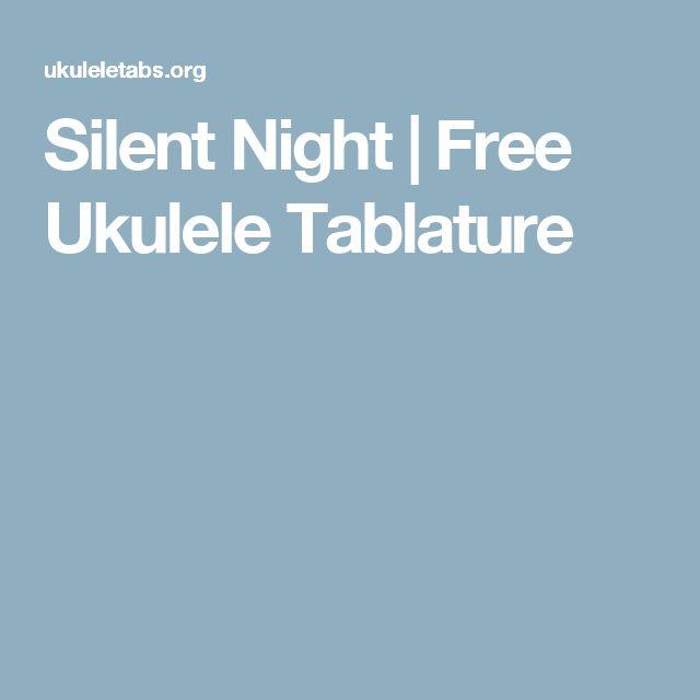 Silent Night | Free Ukulele Tablature