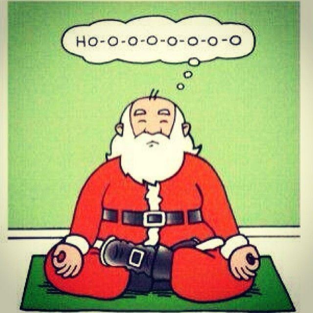santa meditating #yoga #cartoon