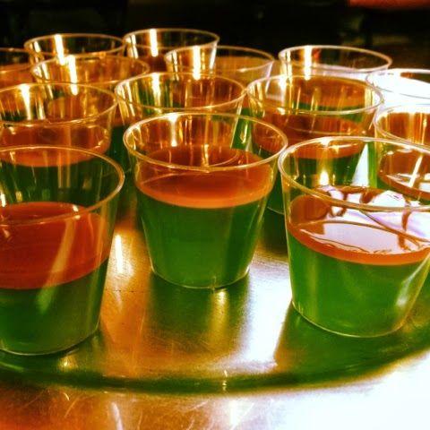 Carmel apple Jell-O shots halloween party idea