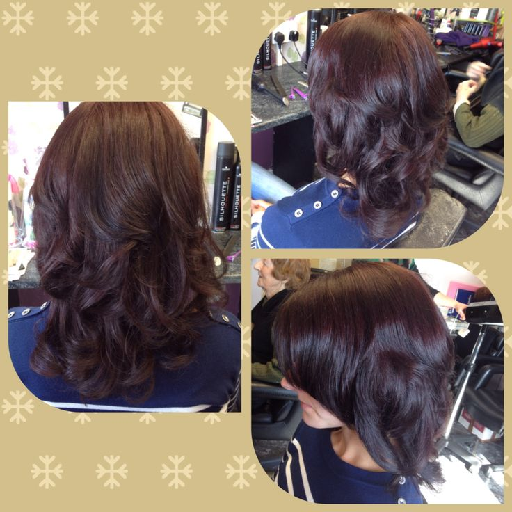 Colour Cut Amp Curly Blowdry Brunette With Slight Hint Of